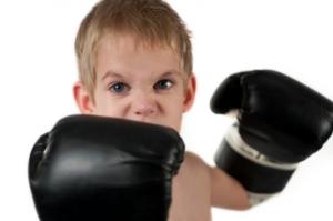 Dude boxing